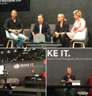 Kzenon on the Adobe Stage at photokina trade fair, Cologne